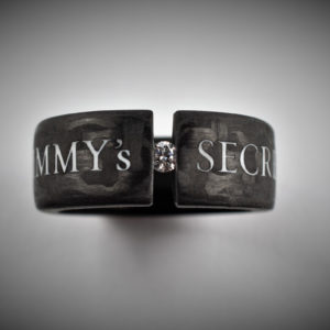 Carbon Schmuck Spannring - Jimmy`s - Secret