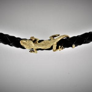 Naturgetreuer Gecko diamantiert l