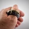 Naturgetreuer Gecko Daumen Ring
