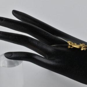 Naturgetreuer Gecko Finger-Arm-Fusband