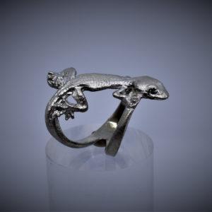 Gecko Ring Silber