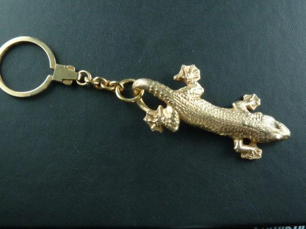 Naturgetreuer Gecko Schlüssel Anhänger