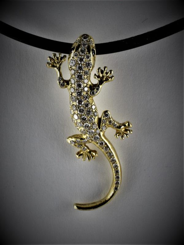 Gecko Brillant Anhänger