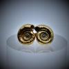 lifelike snail stud earrings