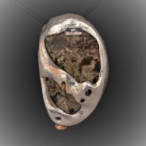 Flamingo in Abalone shell